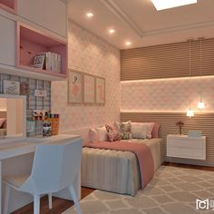 [New] The 10 Best Home Decor Ideas Today (with Pictures) - Girl's Room Inspiration! Small Apartment Bedrooms, Small Room Bedroom, Small Apartments, Room Decor Bedroom, Home Bedroom, Cute Room Decor, Teen Room Decor, Dream Rooms, Dream Bedroom