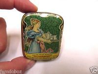 "1900s Art Nouveau Theeschmidt ""Lady"" Tea sample tin"