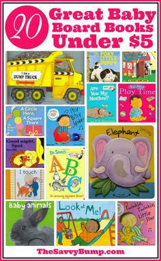 Building a nursery library or getting a baby shower gift together? These fantastic baby board books are all under $5!
