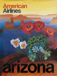 Arizona - American Airlines travel poster  USA