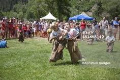 The three-legged races on Independence day