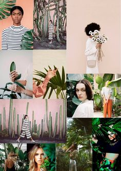 I like the collage of images, how they are places and how the colours are muted but doesn't make it boring, still has a range of colours Jewelry Photography, Creative Photography, Editorial Photography, Portrait Photography, Fashion Photography, Tropical Fashion, Photoshoot Inspiration, Collage, Backdrops