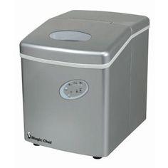 Magic Chef 27 lb. Portable Ice Maker in Silver