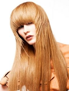 Bangs rock with any hair color