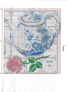 teapot and rose