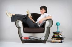 Hollow Chair:  keep favorite books at hand - good for kids room