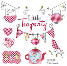 Little Teaparty So sweet machine embroidery designs