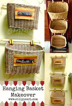 wicker basket hanging ideas - Google Search