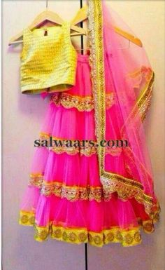 Lace Half Saree in Pink
