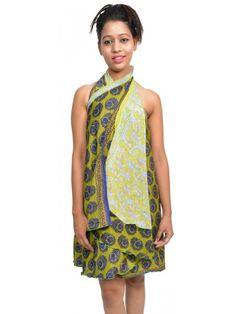 """10 Magic wrap sari skirt UK 30"""""""