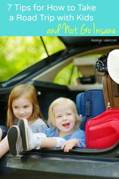 7 Tips for How to Take a Road Trip with Kids & Not Go Insane | Tips from a mom of four who has lived to tell about many road trips  #sponsored
