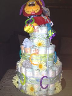 Nappy cake I made for my nephew