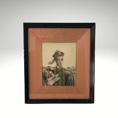 Hand Colored Print of Man by Stan David Framed and Matted | Etsy Glass Votive Holders, Asian Decor, Framed Prints, Art Prints, Hand Coloring, Chinoiserie, Painting Frames, Pink And Green, Art Photography