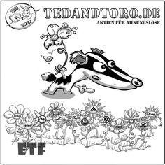 (Finanz-)Faul und desinteressiert, aber trotzdem eine Notwendigkeit zum Investieren erkannt? Dann kauf keine einzelnen Blumen (Aktien), sondern direkt die ganze Wiese, sonst geht's dir wie dem Dachs (mit seinem gammeligen Pflänzchen, was nicht mehr wachsen will).😉  . . #ETF #ETFs #Aktien #Börse #BärundBulle