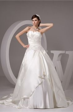 Allure Bridal Gowns Plus Size Open Back Formal Strapless Backless Winter