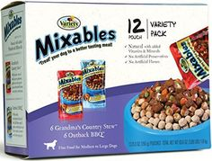 Variety 00080 1253Ounce Mixables Beef Lovers Natural Dog Food Includes 6Grandmas Country Stew and 6Outback BBQ 2Pack >>> Want additional info? Click on the image.