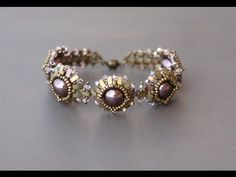 FREE beading tutorial - Beaded bracelet - Pattern by Sidonia. Как сделать в Ворде?