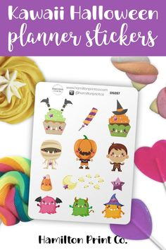 Ohmigosh! Look at those legs hanging out of that cupcake! This sheet of 12 stickers is printed on premium matte sticker paper, which is non-removable. The sheet is 12cm x 9cm. #planner #stickers #ideas #decorating #DIY #happy #life #aesthetic #inspiration #passion #cute #holiday #hobonichi #sticker #kit #bullet #journal #bujo Printable Planner, Planner Stickers, Cute Zombie, Kawaii Halloween, Planner Supplies, Small Shops, Bullet Journals, Erin Condren, Art Market