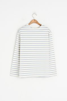 Soft Stripe Tee, Blue, 100% Cotton