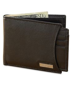 Calvin Klein Wallet, Leather Wallet with Removable Card Case - Belts, Wallets & Accessories - Men - Macy's
