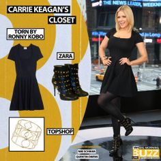 Dress: Torn By Ronny Kobo Shimmer Flare Dress - $398 Shoes: Studded Booties from Zara - $79 Similar Bracelet: Topshop Circle Out Bangle - $20 Bangle, Bracelet, Foxes, Get The Look, Carrie, Flare Dress, Carry On, Topshop, Zara