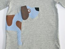 shirt with dog-application by tepetua