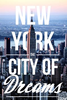 Finally fulfilling a big dream and heading to the big apple this year..... cant wait!