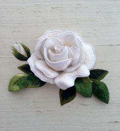 Simply Elegant White Rose - Embellish Embroidery