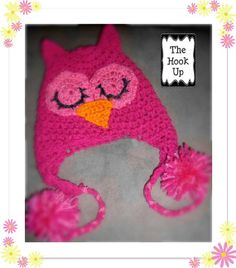 Pinkie Owl Beanie  Crochet Hat Pattern  by CrochetHatsNMore, $5.00   http://www.etsy.com/listing/167220414/pinkie-owl-beanie-crochet-hat-pattern?utm_source=Pinterest&utm_medium=PageTools&utm_campaign=Share
