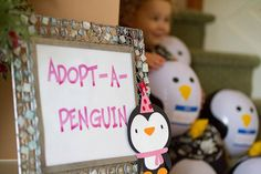 adopt a penguin for winter onederland party by Mom of C^4, via Flickr