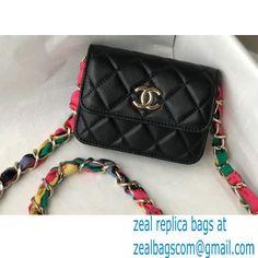 Chanel Ribbon Belt Bag AP2054 Black 2021