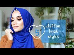 QUICK EASY CHIFFON HIJAB STYLES - YouTube Hijab Style Tutorial, Hijab Styles, Beautiful Hijab, Hijab Fashion, Muslim, Helpful Hints, Religion, Chiffon, Faith