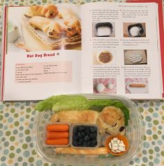 The Yummy Kawaii Bento book by Li Ming Lee helped me make this adorable sleeping hot dog lunch. Funny Food, Food Humor, Bento Ideas, Lunch Ideas, Bento Box, Lunch Box, Bento Tutorial, Non Sandwich Lunches, Dog Bread