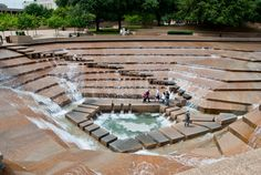 Philip johnson's public water garden, fort worth texas.