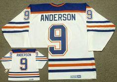 Edmonton Oilers Mens Jersey 9 GLENN ANDERSON White 1987 CCM Vintage Throwback Home NHL Jersey