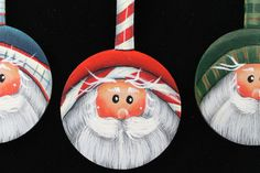 Wooden Spoon Santa Ornaments by helbut on Etsy, $9.99