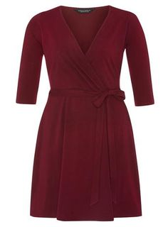 *DP Curve Wine Wrap Dress