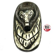 bcd92c1d Pyrite will give you energies of vitality during stressful times Wolfhead  Carved Anubis Pyrite Pendant https