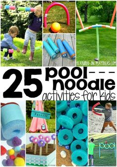 patriots day crafts for kids Pool noodles are cool to play with and now you have 25 more ways to play! We are totally loving these super silly pool noodle activities for kids Pool Noodle Games, Pool Noodle Crafts, Pool Noodles, Pool Games, Noodles Games, Water Games, Water Balloon Games, Summer Fun For Kids, Summer Activities For Kids