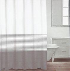 CARO Home Fabric Shower Curtain - Grey, White, and Silver Stripe Caro Home http://www.amazon.com/dp/B00T55G6QS/ref=cm_sw_r_pi_dp_YKOJvb0CRJY51