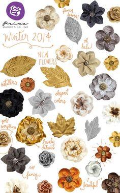 Prima's CHA Winter 2014 Peeks! At Prima we are always looking for the hottest trends (and making up our own!) to incorporate into gorgeous embellishments for your projects! We think you will love the wide variety of amazing new products we have designed just for you!