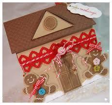 handmade gingerbread house card