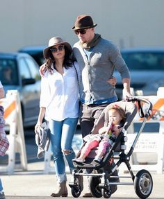 EXCLUSIVE- Channing Tatum and Jenna Dewan with daughter Everly
