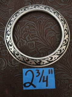 Jeremiah Watt Stainless steel breast collar ring with black accents