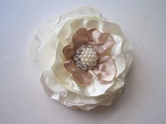 Ivory Satin and Chiffon with Champagne Satin by theraggedyrose