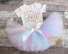 Unicorn First Birthday Outfit  First Birthday  by TheRuffledKitten