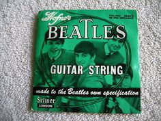 beatles guitar strings   Beatles Guitar String Hofner Original 1964 Selmer 3rd Wax SEALED ...