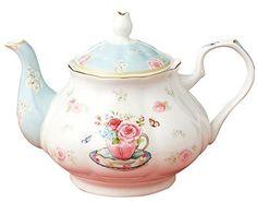 Pottery Teapots, Ceramic Teapots, China Rose, Pink Images, Glass Teapot, Tea Party Birthday, Rose Design, Fine China, Tea Pots