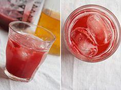 Iced Strawberry Green Tea.