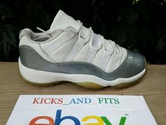 save off 4cb81 0f89a 2001 Nike Air Jordan XI 11 Retro 5Y White Grey Silver RIGHT SHOE ONLY OG DS